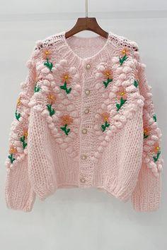 Knitwear Fashion, Knit Fashion, Sweater Fashion, Crochet Buttons, Cute Crochet, Knit Crochet, Kimono Crochet, Crochet Cardigan, Knitted Hats Kids