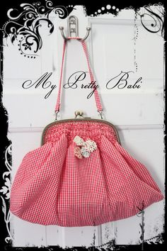 Fabric Frame Bag in Red Gingham by myprettybabi, $98.00 Mother's Day SALE from 22th April until 12th May! All bags & purses, scarves and bolero jackets are 30% Off. Prices have been already marked down! Enjoy it and Happy Mothers' Day! @Etsy @Meylah Marketplace @Lilyshop (Jessie Jane) @Goodsmiths