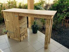 Pallet Bar / Table to Make the Most of My Small Apartment Pallet in the Kitchen