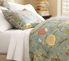 Wells Palampore Duvet Cover & Sham - Blue #potterybarn