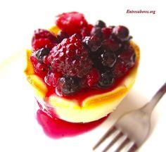 Tartaletas de Mascarpone con chocolate blanco y frutas del bosque