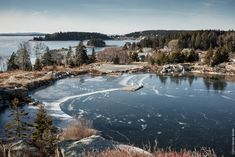 swan's island maine | Swan's Island Maine in December