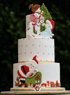 Pretty Witty Cakes Xmas Cake winner - Cake by Prachi DhabalDeb Christmas Cake Designs, Christmas Cake Decorations, Christmas Sweets, Holiday Cakes, Christmas Cooking, Christmas Cakes, Xmas Cakes, Cake Competition, New Year's Cake