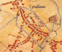 Eindhoven- plattegrond van 1560 van Jacob van Deventer