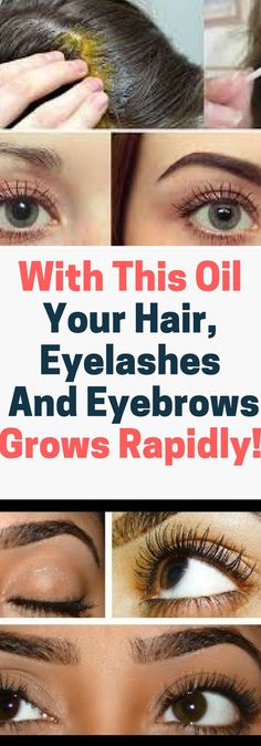 With This Oil Your Hair, Eyelashes And Eyebrows Grows Rapidly..!!