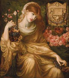 """Dante Gabriel Rossetti """"La Viuda Romana"""" c. 1874"""