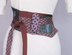 Louis Vuitton obi belt....looks like recycled ties ;)