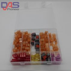 16.65$  Buy now - http://ali07p.shopchina.info/go.php?t=32692749930 - wire connector with 144PCS combo  for 4 rooms mixed 7models  Conductors Terminal Block  boots terminals quick wiring  #magazineonline