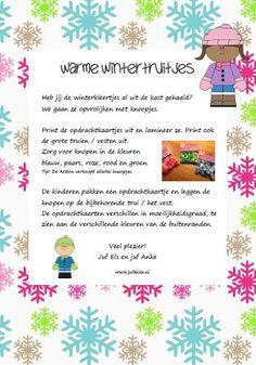 Warme wintertruitjes. Tellen en de getallen leren. Leuke opdrachten met knopen. Jufanke.nl
