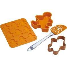 KITCHEN CRAFT Gingerbread 4-piece baking set (99 DKK) ❤ liked on Polyvore featuring home, kitchen & dining and kitchen craft