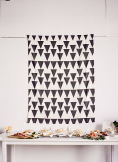 Modern black and white baby shower | Wedding & Party Ideas | 100 Layer Cake