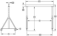 Gantry, Cranes, Hoist, Gantry Crane, Gantry Cranes Diy Projects Tools, Metal Projects, Welding Projects, Art Projects, Sheet Metal Fabrication, Welding And Fabrication, Garage Car Lift, Crane Construction, Crane Design