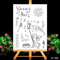 Stamp Cartoon Rabbit Catching Stars Ali Express