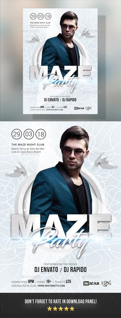 Maze #Party #Flyer - Clubs & Parties Events