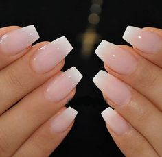 A French manicure is a truly classic nail polish look. Perfect for a clean, cris. A French manicure is a truly classic nail polish look. Perfect for a clean, crisp and stylish finish to any outfit, the French manicure is often favoured by man Classy Acrylic Nails, Natural Acrylic Nails, Natural Nails, Acrylic French Manicure, Acrylic Gel, French Pedicure, Classy Nails, Natural Makeup, American Manicure Nails