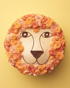 Lion Cake Recipe -- a fun and regal addition to any kids' party.