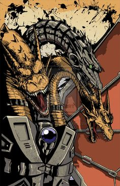 Mecha-King Ghidorah Colors by Tyler Sowles at  KillustrationStudios