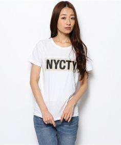 ELFORBR(エルフォーブル)のNYCTY PT Tシャツ(Tシャツ・カットソー)|ホワイト