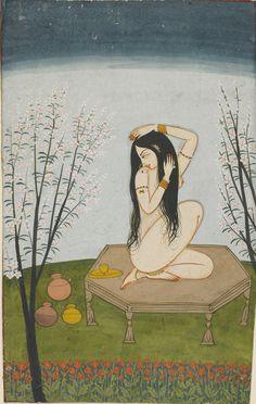 Indian art biscodeja-vu: Punjab Hills, India, ca. 1820.