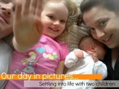 Our Day in Pictures: Settling Into Life With Two Children. How one mum is managing the daily juggle. @Kylie Knapp @ Octavia and Vicky for Childhood 101