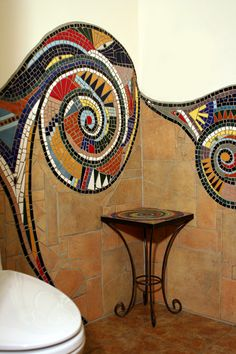 Irina Charny bathroom mosaic