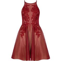 ALIKA Red Lace Prom Dress with Applique Lace (€345) ❤ liked on Polyvore featuring dresses, vestidos, lace cocktail dress, lace dress, red cocktail dress, applique prom dress and evening wear dresses
