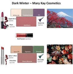 """Image result for """"deep winter"""" makeup list"""