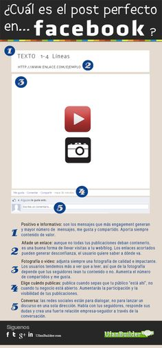 El post perfecto en FaceBook #infografia #infographic #socialmedia #facebook