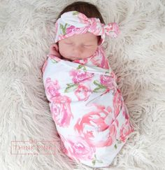 Our newborn swaddle sets are amazing! The bright and fun prints are must have in your hospital bag to make sure your baby is a trendsetter! These take-me-home swaddle sets are perfect for your newborn!Includes 1 swaddle blanket and 1 headband in the same print. Ideal for newborn pictures or everyday!