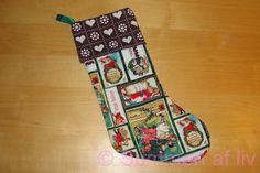 Summen af liv: Julesok DIY - Christmas stocking tutorial