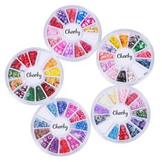 Cheeky 5 Wheels Super Set Of Nail Art Fimo Slices Decal Pieces Accessories The
