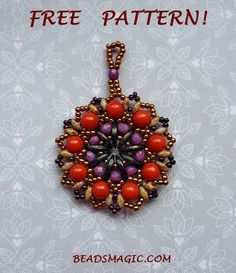 Free pattern for pendant Ethno                                                                                                                                                      More