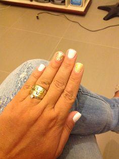 Branco e dourado!