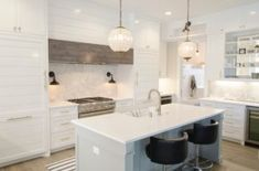 Amazing and Unique Ideas: Kitchen Remodel Butcher Block Floors kitchen remodel colors gray.Kitchen Remodel On A Budget Cupboards small kitchen remodel with island.Kitchen Remodel Must Haves Stove. All White Kitchen, White Kitchen Cabinets, Kitchen Countertops, Diy Kitchen, Kitchen And Bath, Kitchen Decor, Kitchen Cupboard, Quartz Countertops, Shaker Cabinets