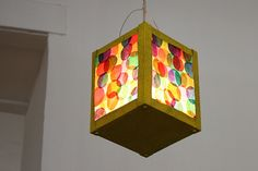 Coloured circles lantern design, perfect for Lanternenumzug (St. Martin's Day parade). Image from Flickr