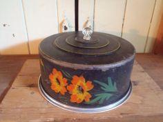 Vintage Metal Hand Painted Cake Plate with by vagabondsandcaravans, $38.00
