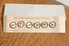 Rare Vintage Guinness Buttons. 1950s Waistcoat Buttons in Original Box. by GoldenGully on Etsy