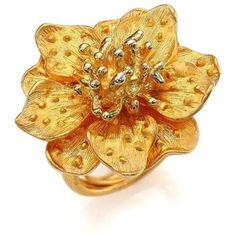 Kenneth Jay Lane Anemone Flower Ring