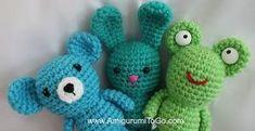 Make It: Wee Frog, Bear & Bunny - Free Crochet Pattern #crochet #amigurumi #free #ravelry by pam