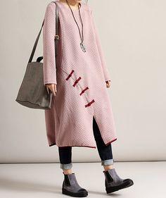 Spring Loose Long dress Women large size dress in wine от MaLieb