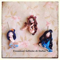 Geisha polymer clay doll