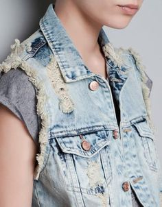 DIY worn out jean jacket
