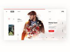 Major Grom Website by Nikita Ryzhkov on Dribbble Web Design, Website, Website Designs, Site Design