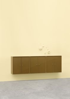 SHINE – a place for everything and even more. SHINE consists of three wall-mounted cabinets with glass doors. #montana #furniture #danish #design #cabinets #storage #homedecor #glass #doors