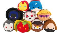 Captain America Civil War Tsum Tsum Collection - Iron Man, Captain America, Black Panther, Ant-Man, Hawkeye, War Machine, Vision, Falcon, and Winter Soldier