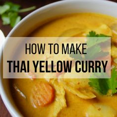 Making this authentic Thai yellow curry recipe is like taking a trip to Thailand but without the jet lag and the expensive plane ticket. This Thai yellow curry is creamy spicy and healthy. And if you don't have all the ingredients don't worry! Curry Recipes, Vegetarian Recipes, Cooking Recipes, Thai Recipes, Vegetarian Curry, Cooking Games, Indian Recipes, Thai Cooking, Just Cooking
