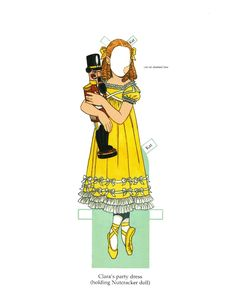 """Nutcracker Ballet [or Kati, the Nutcracker Ballerina]  Paper Doll"" by Tom Tierney, Dover Publications (3 of 8)"