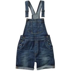 Fat Face Vintage Dungaree Shorts, Denim (4.335 RUB) ❤ liked on Polyvore featuring shorts, fat face, summer denim shorts, bib shorts, denim dungaree and pocket shorts