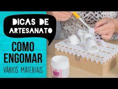 Caixa com Sapatinhos de Bebê Engomados {Laqueado Branco} - YouTube