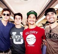 P-E-R-F-E-C-T-I-O-N Daniel, Dylan, T-Pose, and Tyler Hoechlin<3 Issac, Stiles, Scott, and Derek<3